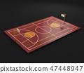 basketball court, baseline Outdoor 47448947