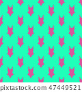 Woman fashion summer swimsuit green pink seamless background pattern 47449521