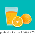 Fresh juice orange background vector illustration 47449575