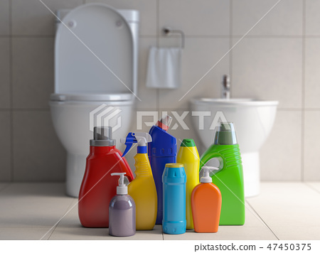 Detergent bottles  containers. Cleaning supplies  47450375