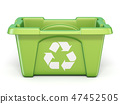 Green recycle bin 3D 47452505
