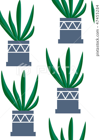 Exotic seamless pattern tropical houseplant 47455284