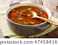 Breton beans with sausage in tomato sauce 47458416