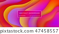 Abstract background with purple, yellow, red wave and liquid shapes composition. 47458557