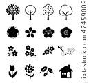 春天植物图标 47459009