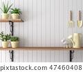 Wood shelf 3d render 47460408