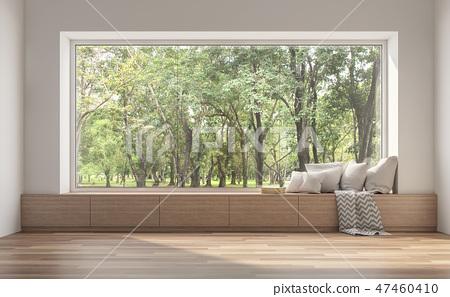 Side window seat 3d render 47460410