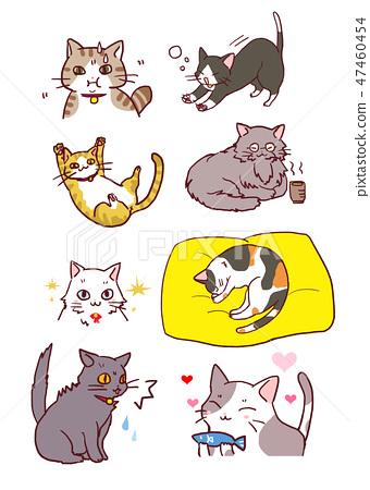 Cat illustration set 47460454
