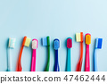 Colorful toothbrushes. 47462444