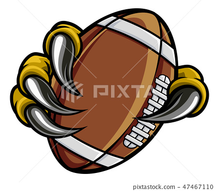 Eagle Bird Monster Claw Holding Football Ball 47467110