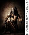 mask, fighter, knife 47467967