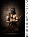 warrior, man, mask 47467972