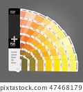 Illustration of color palette guide for print 47468179