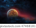 Celestial digital art Venus planet in outer space 47468181
