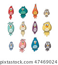 Collection of Funny Birds 47469024