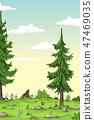 Cartoon Summer Landscape 47469035