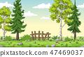 Cartoon Summer Landscape 47469037