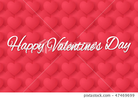 Valentines day , red heart shape background 47469699
