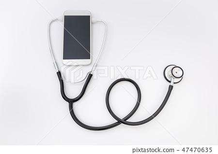 원격의료, 원격진료, 스마트폰과 청진기, 건강관리 47470635