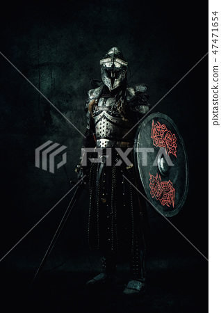 Portrait of a medieval fighter 47471654