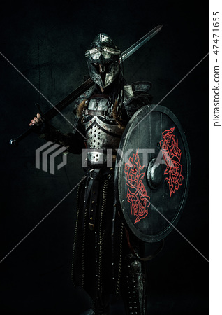 Portrait of a medieval fighter 47471655