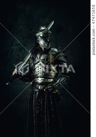 Portrait of a medieval fighter 47471658