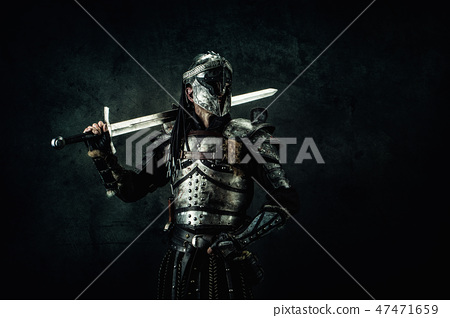Portrait of a medieval fighter 47471659