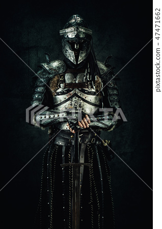 Portrait of a medieval fighter 47471662