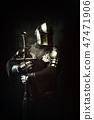 metal, helmet, man 47471906