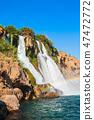 Duden waterfall park in Antalya 47472772