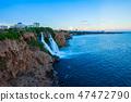 Duden waterfall park in Antalya 47472790