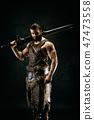 warrior, barbarian, man 47473558