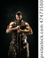 warrior, barbarian, man 47473560