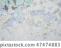 An old and weathered painted wall texture  47474883
