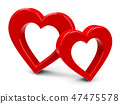 Two red hearts #2 47475578