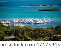 Multiple boats docked at bay of Puerto Rico 47475945