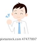 Dress of a shirt / tie Guts pose 47477897