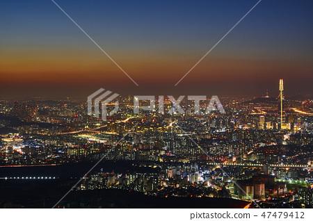 남한산성 행궁과 서울야경 47479412