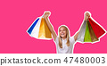 shopping, bag, young 47480003
