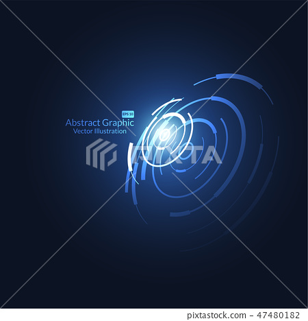 Abstract science and technology futuristic HUD 47480182
