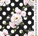 rose seamless pattern 47481416