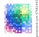 Abstract pixels  background 47481443