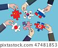 Diplomacy and trade War, international trade concept vector illustration 005 47481853