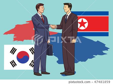 Diplomacy and trade War, international trade concept vector illustration 010 47481859