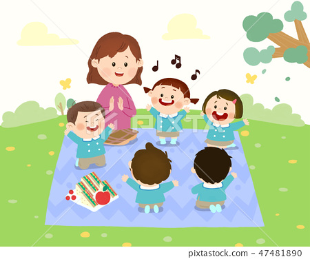 Preschool Kids daily life vector illustration 010 47481890