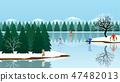 森林 樹林 湖泊 47482013