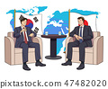 Diplomacy and trade War, international trade concept vector illustration 012 47482020