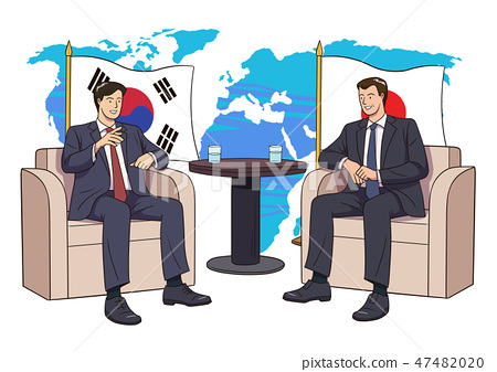 Diplomacy and trade War, international trade concept vector illustration 012 47482020