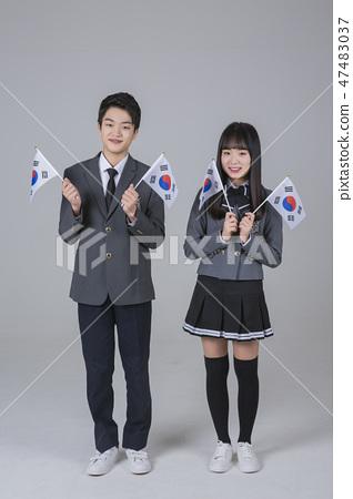 Life of high school students, senior school students concept photo 188 47483037