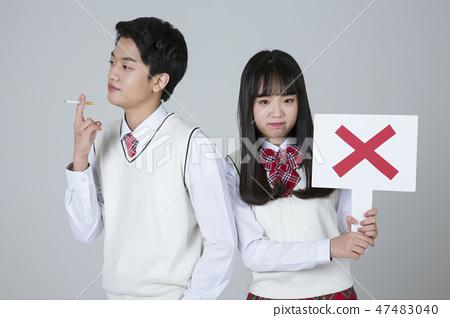 Life of high school students, senior school students concept photo 382 47483040